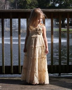 This little girl dress was made from an old skirt!