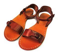 Jerusalem Biblical Leather Sandals Buckle Strap Honey Brown Handmade for women Camel Sandals, Gladiator Sandals, Leather Sandals, Jesus Sandals, Toddler Sandals, Honey Brown, Sandals For Sale, Holy Land, Holi