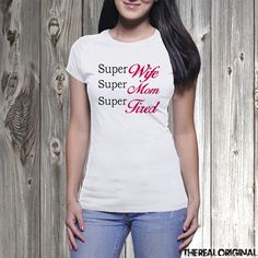 Super Wife Super Mom Super Tired Shirt - Superman Super hero tank Funny Mothers Day Super Mom Wonder Woman Superhero New Mom Wifey  - RO224 by TheRealOriginal on Etsy