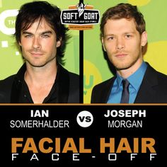 #malegrooming #shaving #sexyscruff #stubble #mensfashion #celebrities #Hollywoodhunks #IanSomerhalder #JosephMorgan