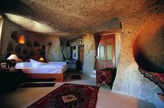 Güvercinlik Cave #cappadocia #kapadokya #turkey #luxury #hotel #relaischateaux #room #hotelroom #boutique #museumhotel #uchisar #cave #cavehotel #museum #honeymoon #balayı #butik #bedroom