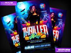 Thriller Halloween Party Flyer by Industrykidz