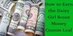 Daisy Girl Scout Activities: How to Earn the Daisy Girl Scout Money Counts Leaf...