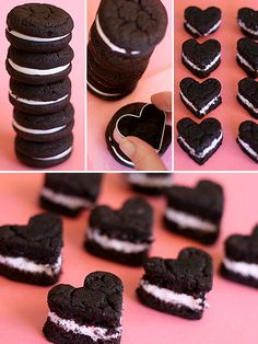 oreo cakesters..instant Valentine's fun! Not to mention all those little leftover bits to chow down!