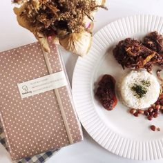 nasi lemak: #breakfast of (malaysian) #champions happening now to 12pm