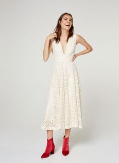 Uterqüe Netherlands Product Page - Clothing - Dresses and jumpsuits - Floral midi dress - 199