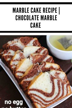 marble cake recipe, chocolate marble cake, eggless marble cake with step by step photo/video. an interesting fusion cake recipe by combining 2 cake batter Chocolate Marble Cake, Eggless Chocolate Cake, Eggless Desserts, Eggless Recipes, Eggless Baking, Chocolate Recipes, Baking Recipes, Cookie Recipes, Plain Chocolate Cake Recipe