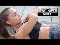 BASIC ABS WORKOUT | Bauchmuskel training für Anfänger | byevelina - YouTube