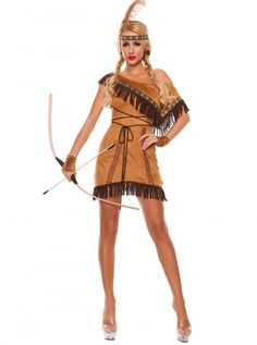 Women's Sexy Dream Catcher Costume for adults at discount prices with FREE exchanges. White Halloween Costumes, Sexy Adult Costumes, Costumes For Women, Halloween Parties, Adult Halloween, Tan Dresses, Indian Dresses, Wild West Costumes, Indian Costumes