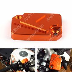 Sale Motorcycle Bike CNC Front Brake Master Cylinder Reservoir Cover For KTM 125 200 390 Duke Orange High Quality CNC Aluminium  #Affiliate