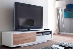 MEGA TV-Lowboard Weiß 1 Schiebetür, 180x45x45 cm, 310 Euro | TV ...