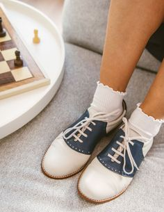 Swing Dancing, Saddle Shoes, Saddles, Cute Shoes, Cheerleading, Espadrilles, Chanel, Flats, Pullover
