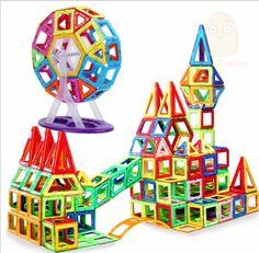 משחק לגו אבני בנייה ריבועים משולשים צעצוע לילדים 200 יחידות – סופר מרקט