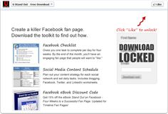 Facebook like-gate. Like the post before you see the content