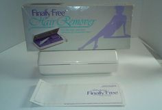 Vintage Finally Free Hair Removery Epilator Tweezers White Purple Case New #FinallyFree