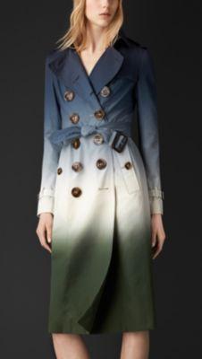 Dégradé Silk Trench Coat