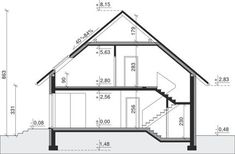 House design House at Cyprysowa 7 CE - HOUSE - ready .- Projekt domu Dom przy Cyprysowej 7 CE – DOM – gotowy koszt budowy Cross-section House at Cyprysowa 7 CE - Minimal House Design, Minimal Home, Types Of Doors, Steel Doors, Design Case, Minimalism, Floor Plans, House Styles, Home Decor