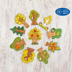 Woodland Tree set puzzle pcs) Nature table Tree figurines Forest small world – Toys Ideas Small World, Love Photos, Cool Pictures, Kraft Packaging, Toy Trees, Non Toxic Paint, Wooden Tree, Nature Table, Waldorf Toys