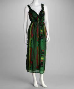 Green Layered Dress |