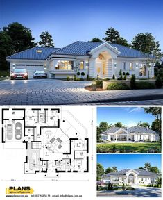 House Plans Mansion, Sims House Plans, House Layout Plans, Family House Plans, Luxury House Plans, New House Plans, Dream House Plans, House Layouts, Village House Design