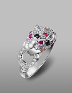 Head of Cheetah Cocktail Ring!  Strong personality, infinite glamor!!