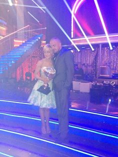 Kellie Pickler and her supportive hubby backstage  -  Dancing With the Stars  -  season 16  -  final night week 10  -  spring 2012