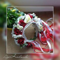 AgiHandmade / parta - kvetinová čelenka Floral Wreath, Wreaths, Folk Costume, Flowers, Google, Image, Decor, Floral Crown, Decoration