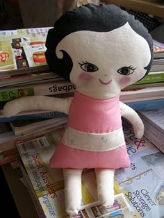 free doll patterns to sew | want to make your own rag doll, here's a free doll pattern from make ...