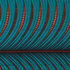 African Wax Fabric – Orange & Blue – by Textile Patterns, Textile Design, Print Patterns, Ethnic Patterns, African Textiles, African Fabric, Pattern Art, Pattern Design, Pattern Ideas