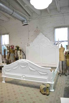 Painted Cottage Shabby  French White Romantic  by paintedcottages, $1995.00 I am in love with this bed!