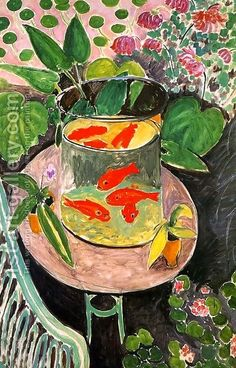 Henri Matisse Goldfish painting for sale - Henri Matisse Goldfish is handmade art reproduction; You can shop Henri Matisse Goldfish painting on canvas or frame. Henri Matisse, Matisse Kunst, Matisse Art, Art And Illustration, Illustrations, Art Amour, Matisse Paintings, Oil Paintings, Painting Art
