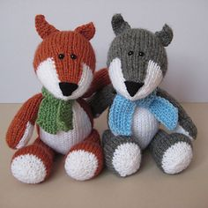 Todd Fox & Ralf Wolf by Amanda Berry - pattern for sale