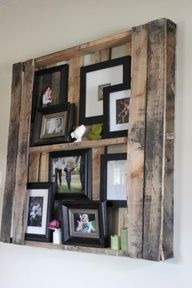 Pallet wood project ideas.  Love the look of old pallet wood. #Recipes