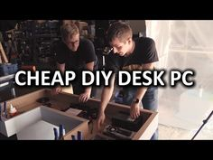 The best DIY projects & DIY ideas and tutorials: sewing, paper craft, DIY. Ultimate DIY Desk PC - Desk Construction Video Description It's another father-son project. An affordable (and awesome) desk PC. where my dad does Desk Pc Build, Pc Desk, Built In Computer Desk, Gaming Desk, Computer Desks, Plywood Desk, Diy Standing Desk, Diy Pc, Dream Desk