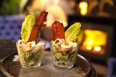 These individual Caesar salads make light and flavourful appetisers. You can find quail eggs and pickled anchovy at major supermarkets. How To Make Salad, Food To Make, Caramelized Bacon, Sbs Food, Quail Eggs, Caesar Salad, Snack Bar, Appetisers, Meal Planner