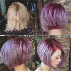 You can try different hair colors on your bob hairstyle to get the unique and trendy look. Here are few best hair color ideas for short bob hair, that will. 2015 Hairstyles, Short Bob Hairstyles, Pretty Hairstyles, Bob Haircuts, Haircut Bob, Haircut Parts, Easy Hairstyle, Hairstyle Ideas, Chinese Bob Hairstyles