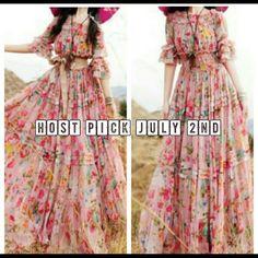 Host Pick -Romantic Floral Maxi Dress