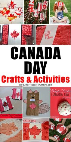 17+ Canada Day Crafts & Activities for Kids - HAPPY TODDLER PLAYTIME Easy Crafts For Kids, Craft Activities For Kids, Summer Activities, Toddler Crafts, Creative Crafts, Projects For Kids, Art For Kids, Kids Fun, Preschool Lessons