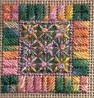 Square from Caron Collections Little Treasures charted needlepoint project pack