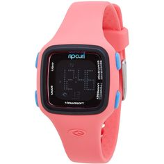 Rip Curl Candy Digital Surf Watch Cotton (296.380 COP) ❤ liked on Polyvore featuring jewelry, watches, black, rubber watches, womens watches, digital alarm watch, digital wristwatch, rip curl, water proof watches and digital watch