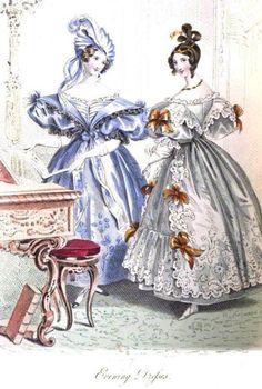 La Belle Assemblee, Evening Dress, March 1834.