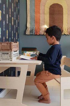 Boys Desk, Kidsroom, New Room, Little Boys, Baby Kids, Studio, Wallpaper, Home Decor, Bedroom Kids
