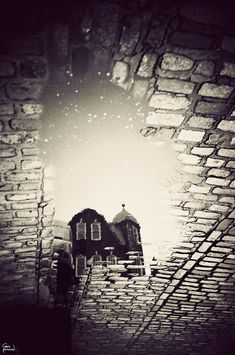 Gavin Hammond's gorgeous black and white images of London's architecture as seen in puddles after rain.