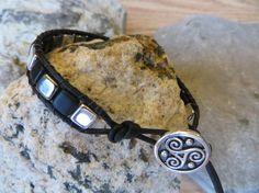 Leather Wrap Bracelet Single Wrap Unisex Mens by ToZenAndBack