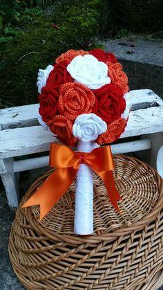 Crochet wedding bouquet