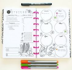 35 Ideas for party planning bullet journal