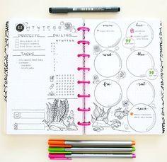 Beautiful bullet journal layout.