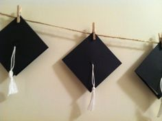 Graduation Cap Hat Advice Message Banner - DIY Garlands for 2014 ...