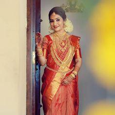 Actress turns She acted in Malayalam, Kannada and Tamil films. Bridal Sarees South Indian, Indian Bridal Outfits, Indian Bridal Hairstyles, South Indian Bride, Bridal Dresses, Indian Wedding Bride, Wedding Dress Men, Kerala Bride, Hindu Bride