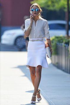 Olivia at fashion week